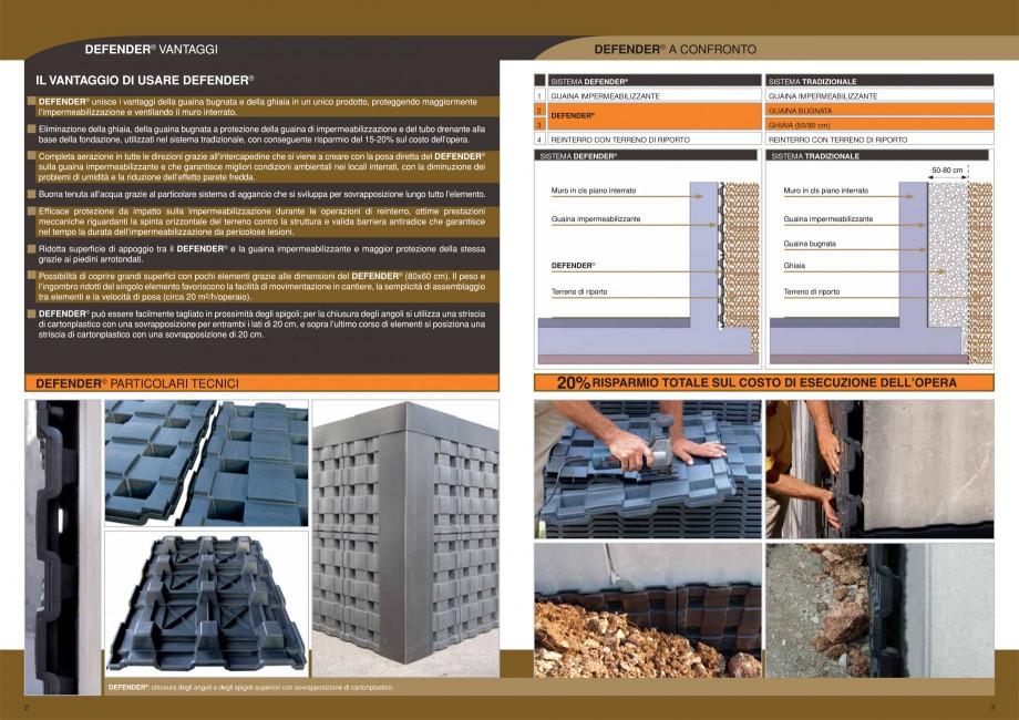Pagina 2 - Sistem pentru protejarea peretiilor din subsoluri GEOPLAST DEFENDER ® Catalog,...