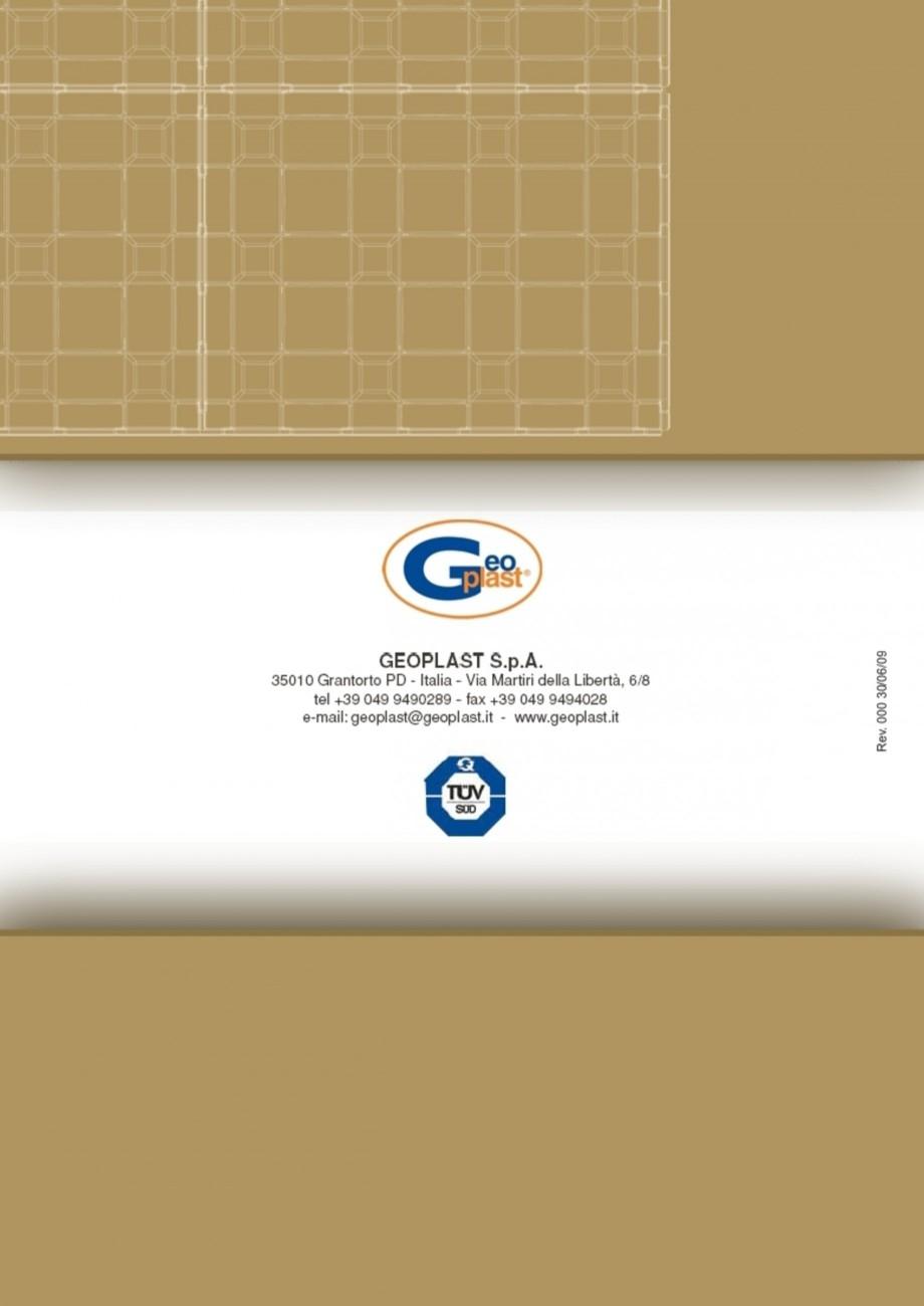 Pagina 8 - Sistem pentru protejarea peretiilor din subsoluri GEOPLAST DEFENDER ® Instructiuni...