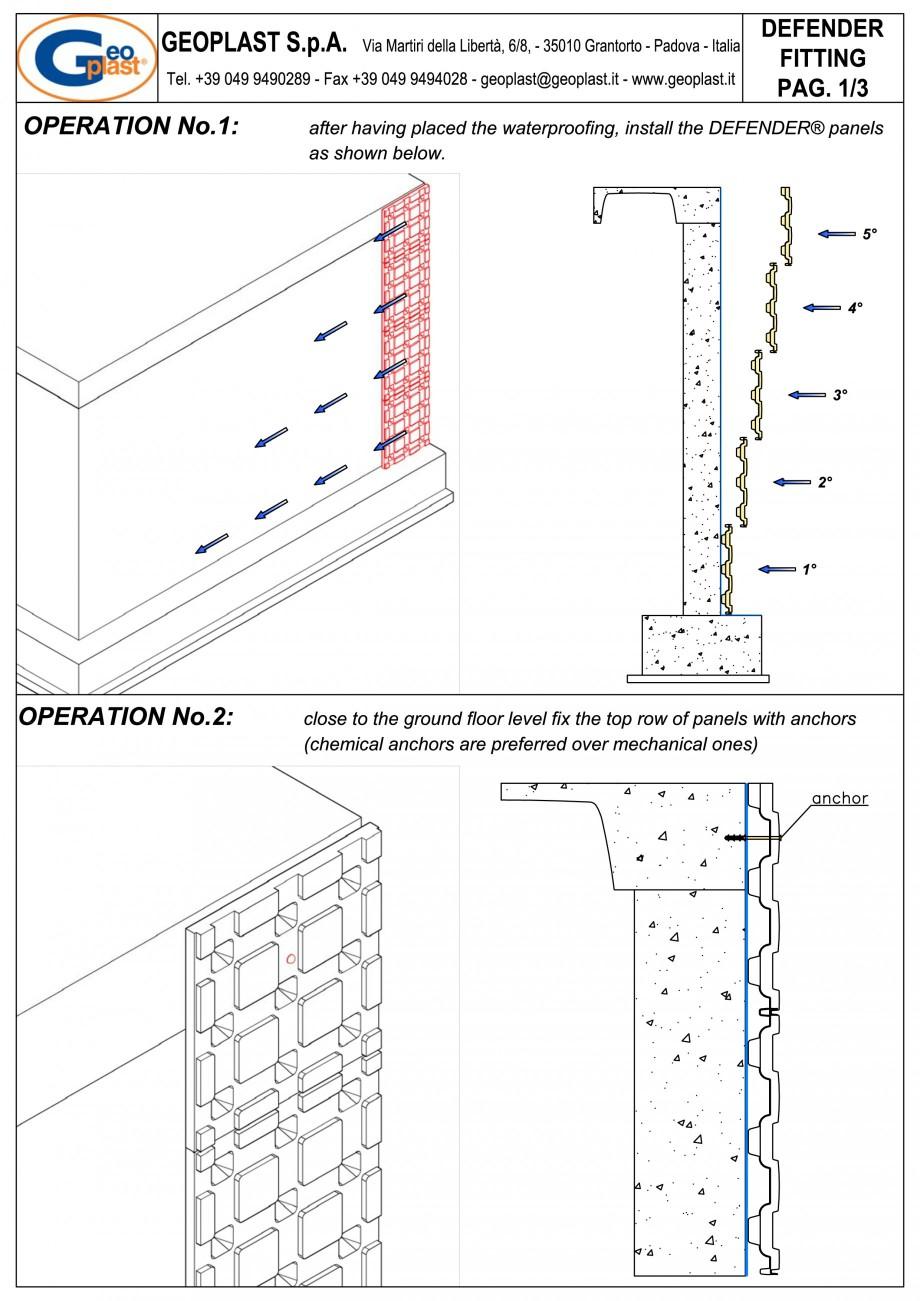 Pagina 4 - Sistem pentru protejarea peretiilor din subsoluri GEOPLAST DEFENDER ® Instructiuni...