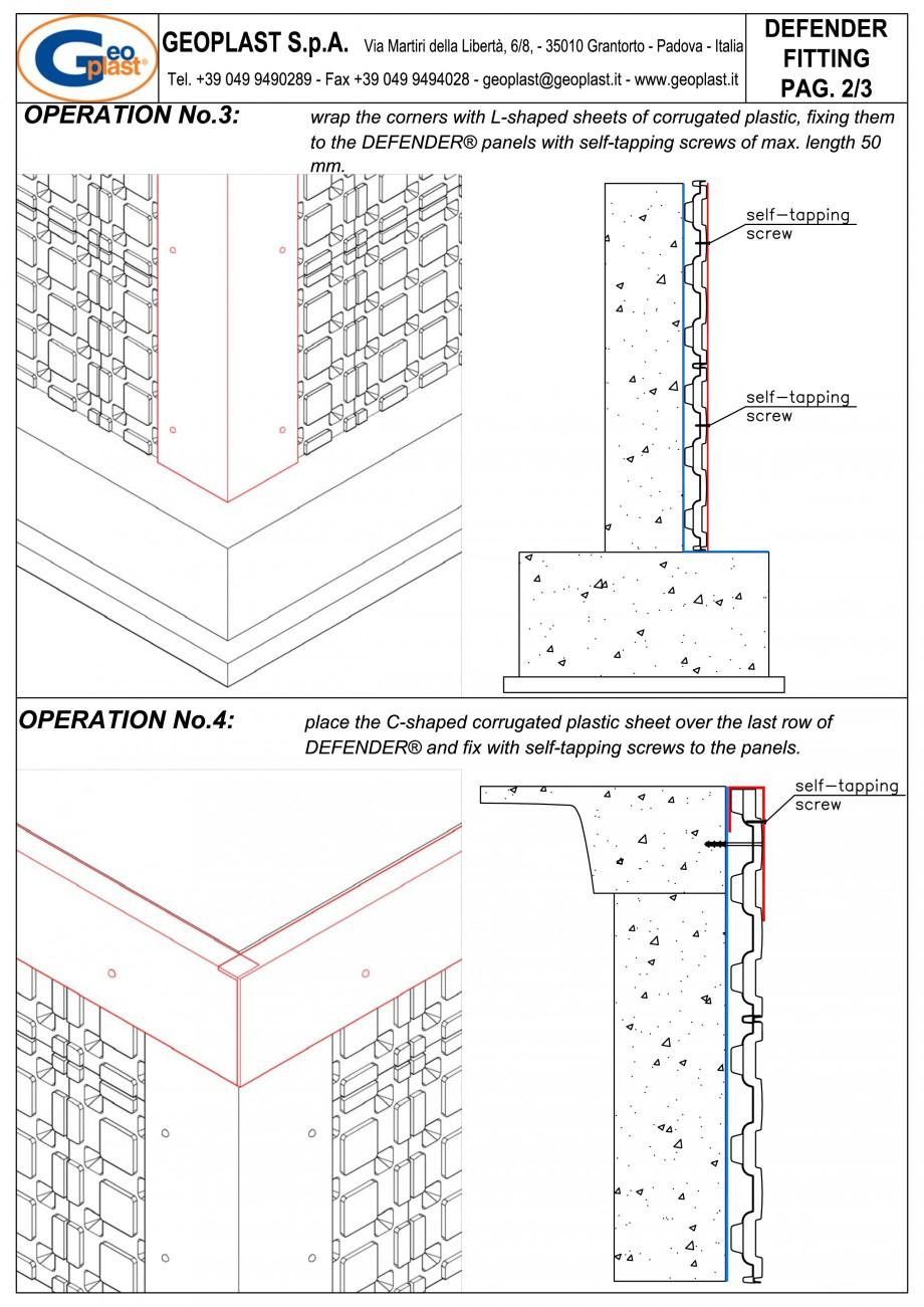 Pagina 5 - Sistem pentru protejarea peretiilor din subsoluri GEOPLAST DEFENDER ® Instructiuni...