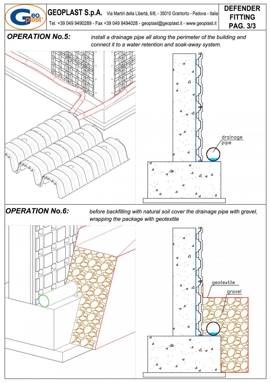 Pagina 6 - Sistem pentru protejarea peretiilor din subsoluri GEOPLAST DEFENDER ® Instructiuni...