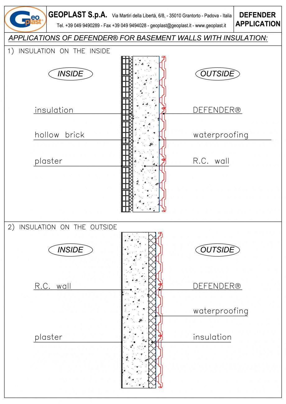Pagina 7 - Sistem pentru protejarea peretiilor din subsoluri GEOPLAST DEFENDER ® Instructiuni...
