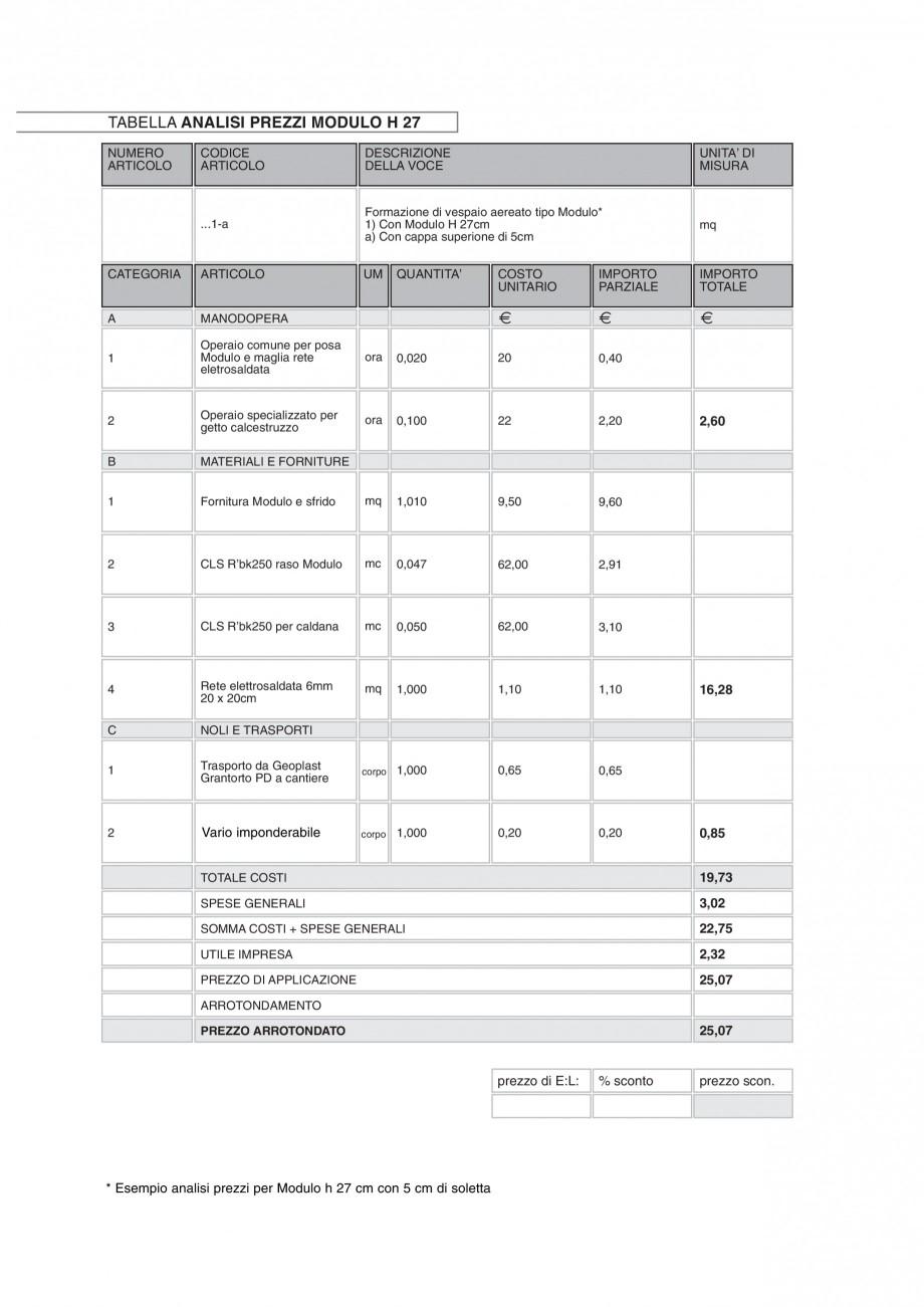 Pagina 12 - Cofraje pierdute pentru realizarea pardoselilor ventilate monolit GEOPLAST MODULO ® ...