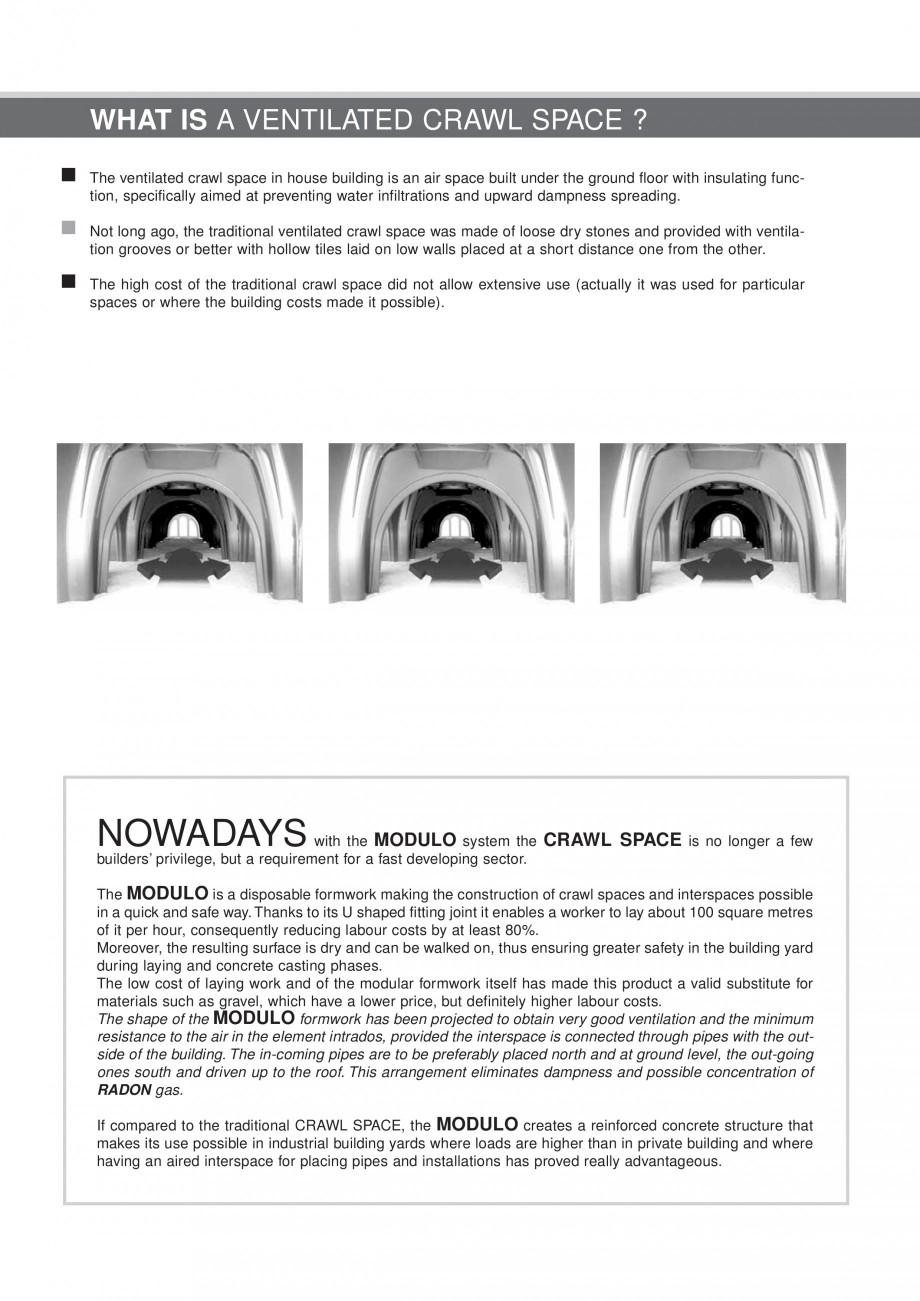 Pagina 5 - Cofraje pierdute pentru realizarea pardoselilor ventilate monolit GEOPLAST MODULO ®...
