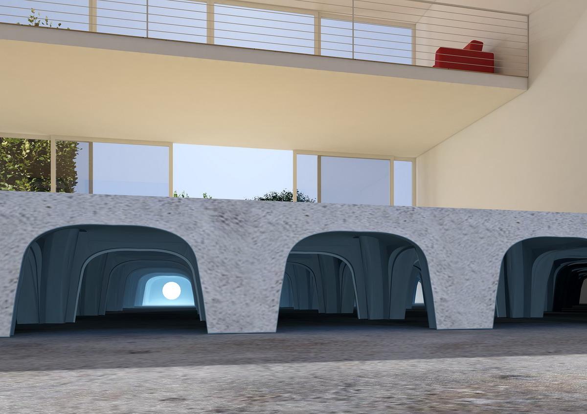 Cofraje pierdute pentru realizarea pardoselilor ventilate monolit - Randari GEOPLAST - Poza 7