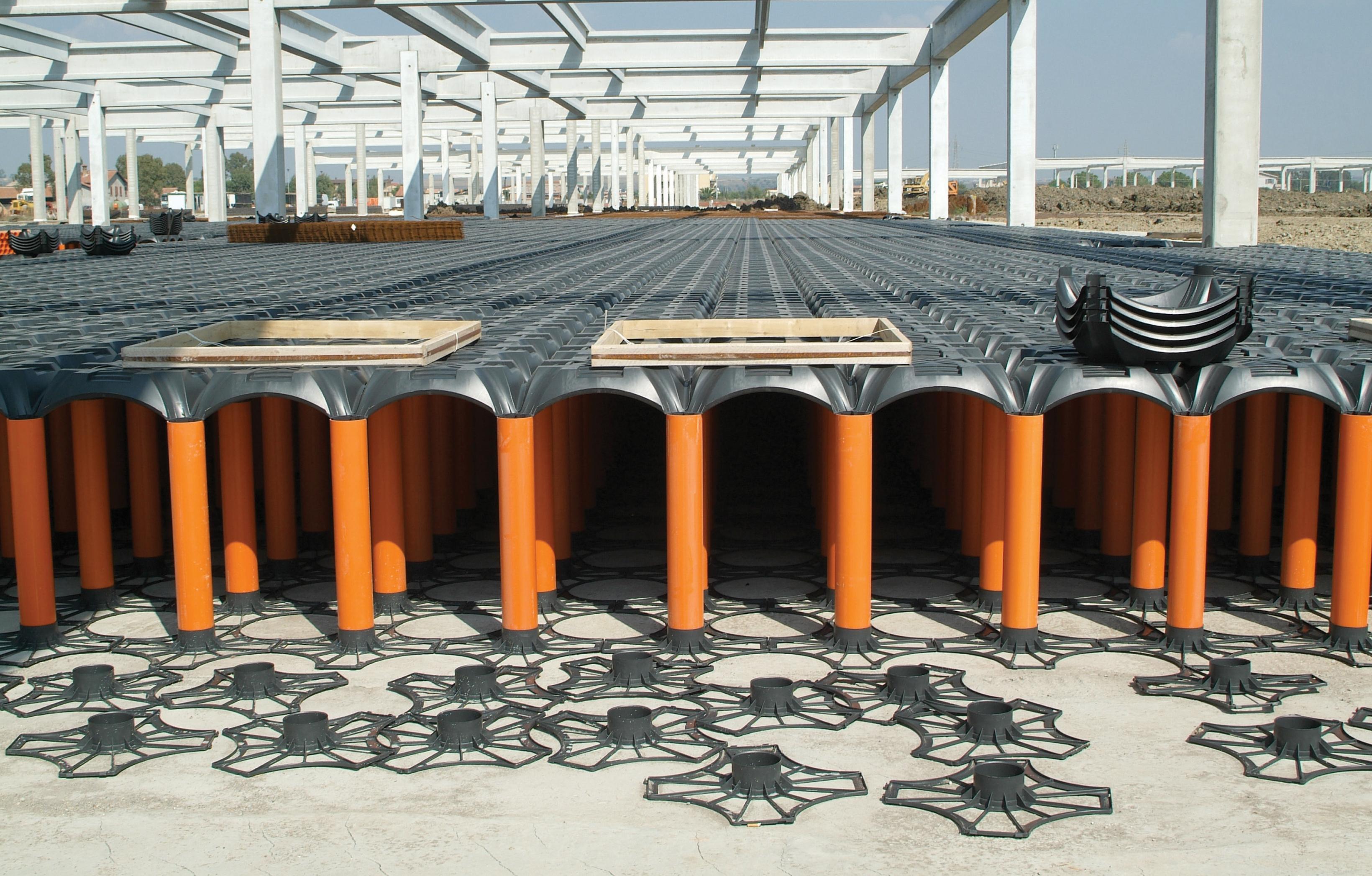 Sistem de cofraje pierdute pentru pardoseli ventilate la cladiri rezidentiale si industriale GEOPLAST - Poza 9