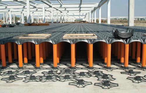 Executie, montaj Sistem de cofraje pierdute pentru pardoseli ventilate la cladiri rezidentiale si industriale GEOPLAST - Poza 9