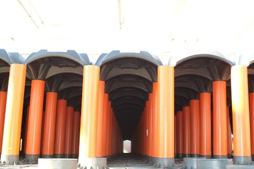 Executie, montaj Sistem de cofraje pierdute pentru pardoseli ventilate la cladiri rezidentiale si industriale GEOPLAST - Poza 12