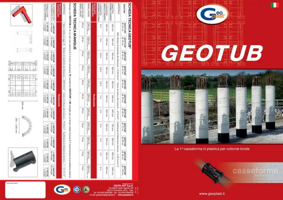 Pagina 1 - Cofraj refolosibil pentru coloane cilindrice GEOPLAST GEOTUB® Catalog, brosura...
