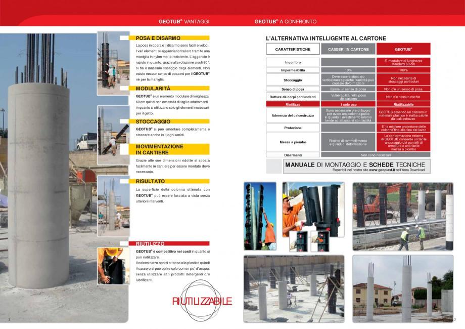 Pagina 2 - Cofraj refolosibil pentru coloane cilindrice GEOPLAST GEOTUB® Catalog, brosura...