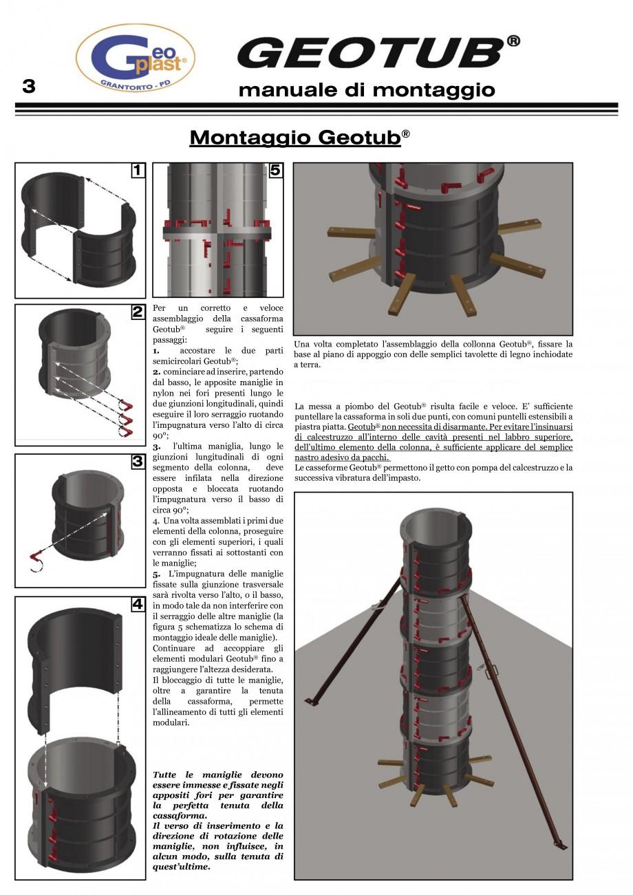 Pagina 4 - Cofraj refolosibil pentru coloane cilindrice GEOPLAST GEOTUB®, GEOTUB PANEL...