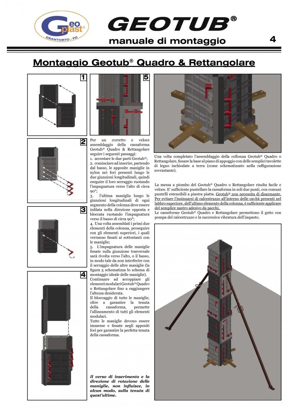 Pagina 5 - Cofraj refolosibil pentru coloane cilindrice GEOPLAST GEOTUB®, GEOTUB PANEL...