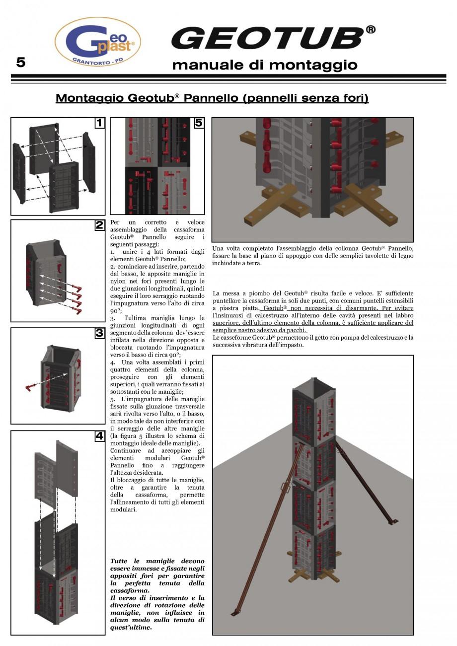 Pagina 6 - Cofraj refolosibil pentru coloane cilindrice GEOPLAST GEOTUB®, GEOTUB PANEL...