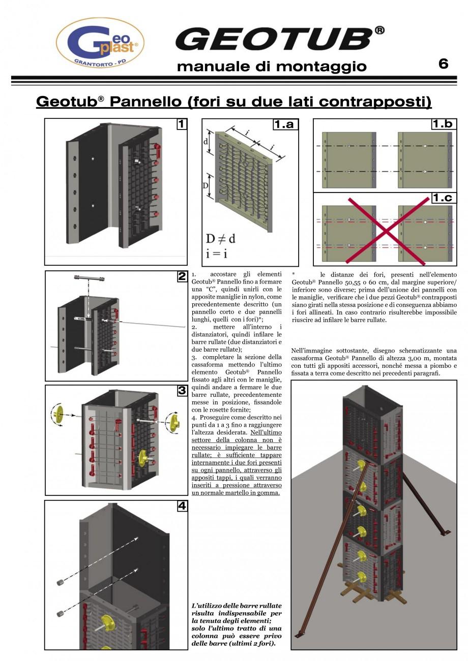 Pagina 7 - Cofraj refolosibil pentru coloane cilindrice GEOPLAST GEOTUB®, GEOTUB PANEL...