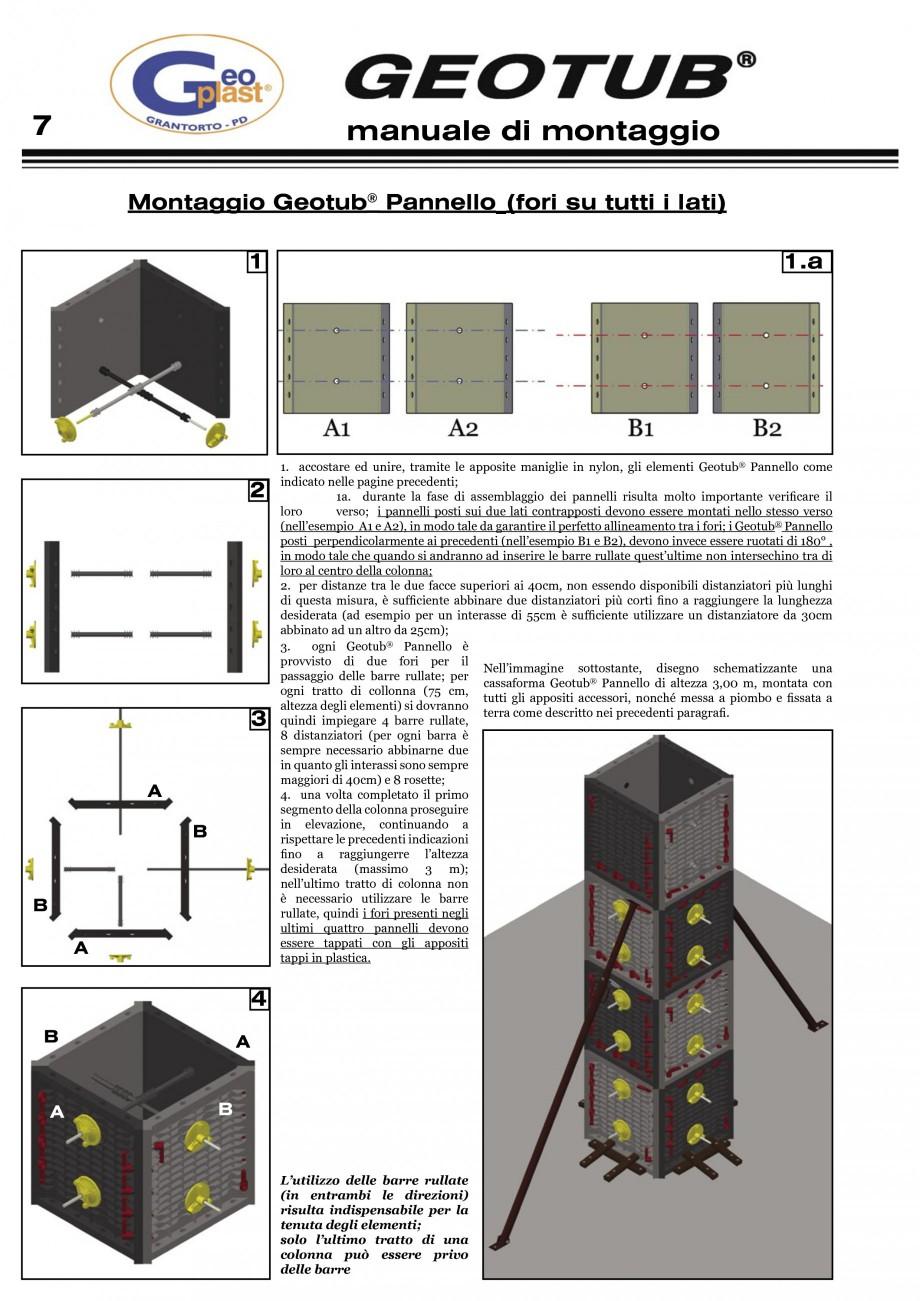 Pagina 8 - Cofraj refolosibil pentru coloane cilindrice GEOPLAST GEOTUB®, GEOTUB PANEL...