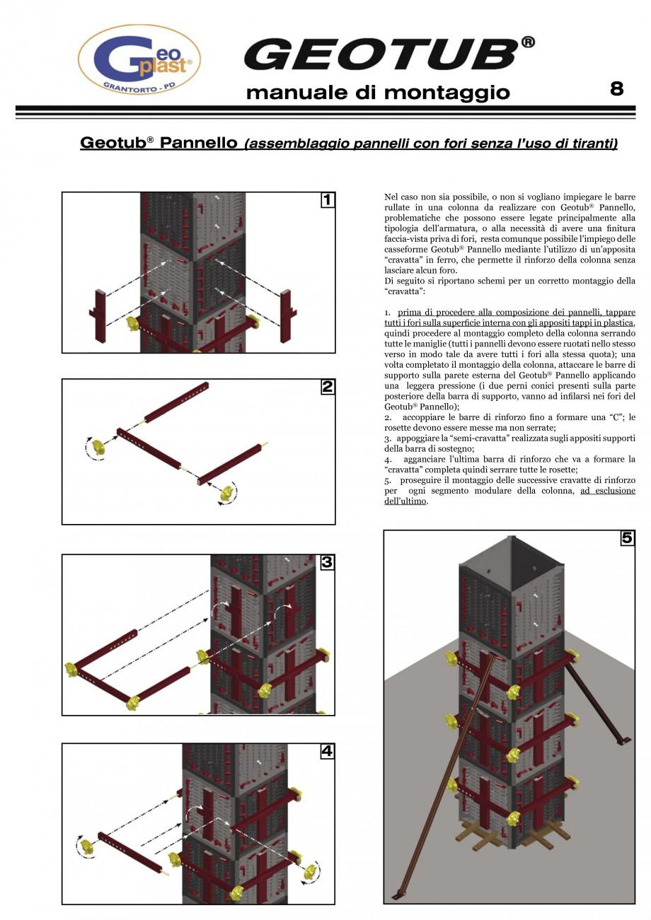 Pagina 9 - Cofraj refolosibil pentru coloane cilindrice GEOPLAST GEOTUB®, GEOTUB PANEL...