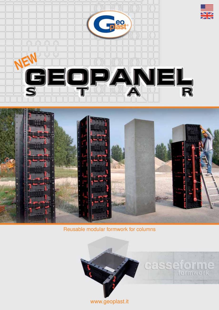 Pagina 1 - Panou refolosibil de cofraj modular GEOPLAST GEOPANEL® STAR Catalog, brosura Engleza ...