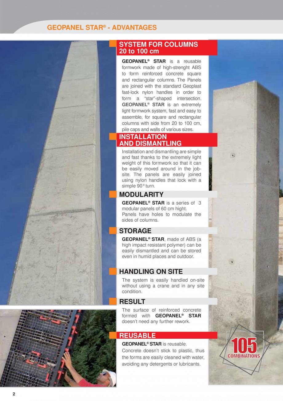 Pagina 2 - Panou refolosibil de cofraj modular GEOPLAST GEOPANEL® STAR Catalog, brosura Engleza ...