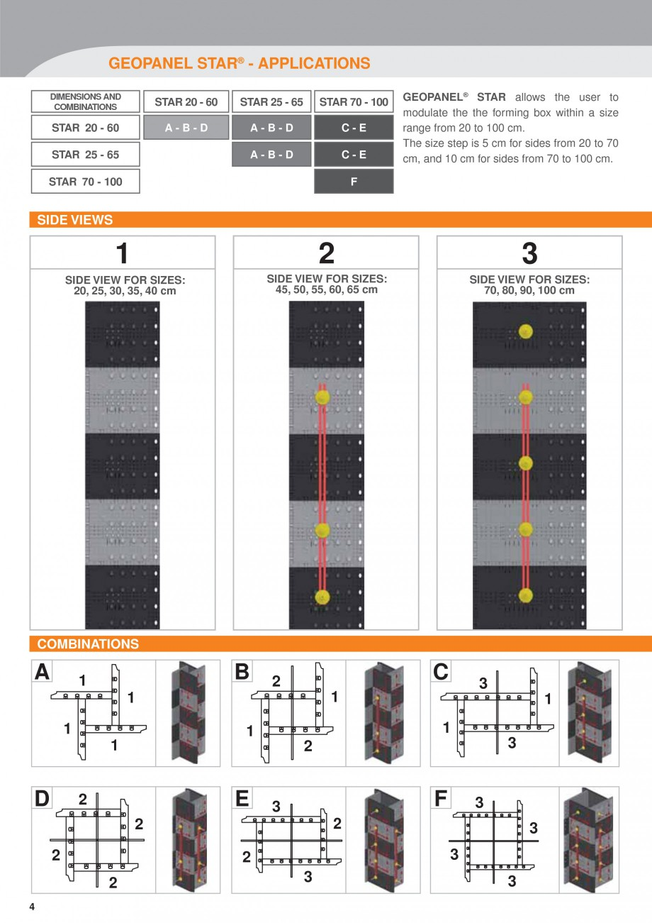 Pagina 4 - Panou refolosibil de cofraj modular GEOPLAST GEOPANEL® STAR Catalog, brosura Engleza ...