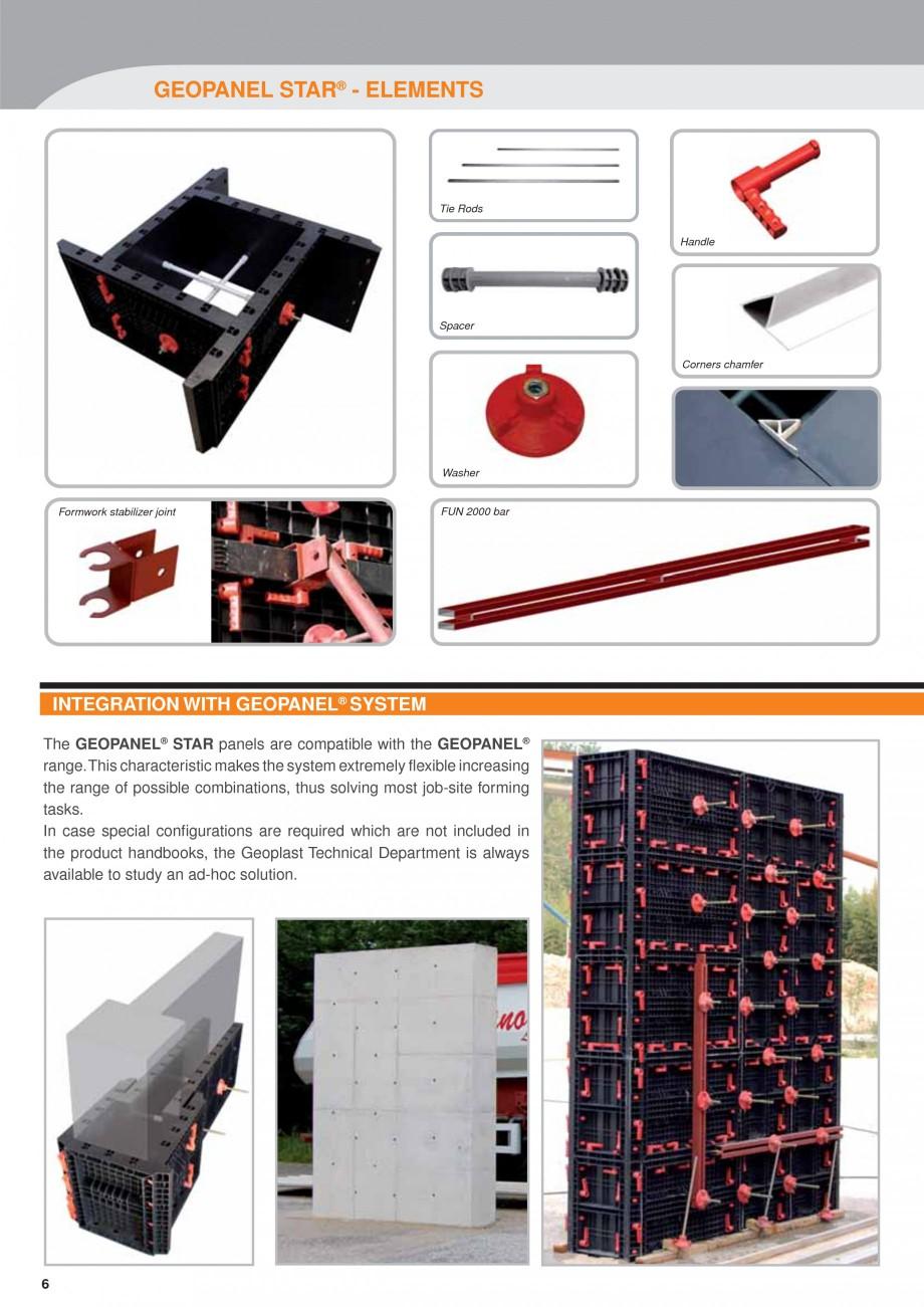 Pagina 6 - Panou refolosibil de cofraj modular GEOPLAST GEOPANEL® STAR Catalog, brosura Engleza