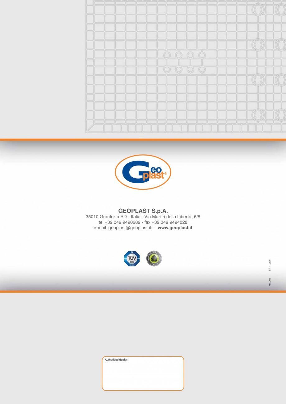Pagina 8 - Panou refolosibil de cofraj modular GEOPLAST GEOPANEL® STAR Catalog, brosura Engleza