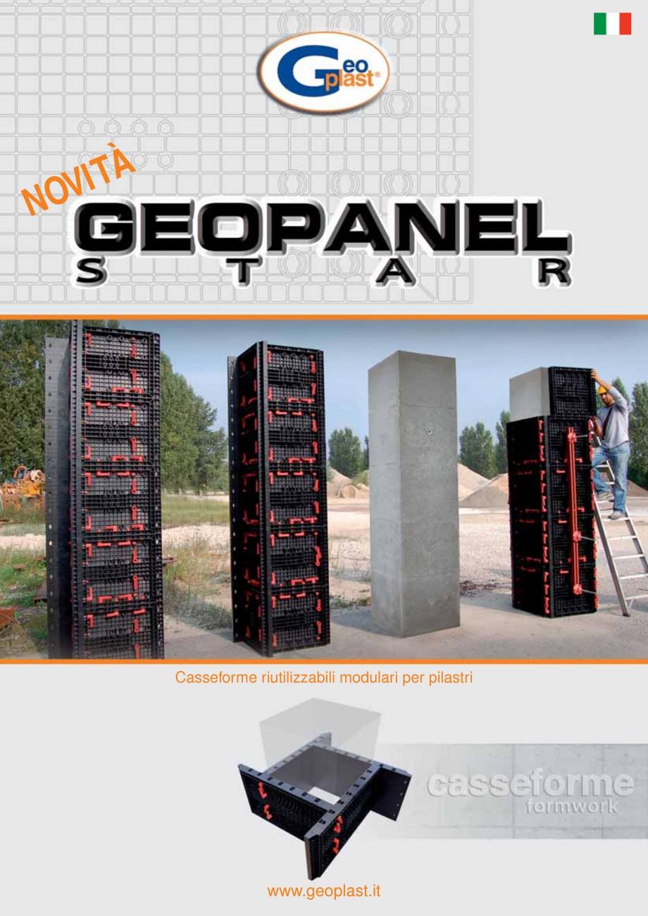 Pagina 1 - Panou refolosibil de cofraj modular GEOPLAST GEOPANEL® STAR Catalog, brosura Italiana...