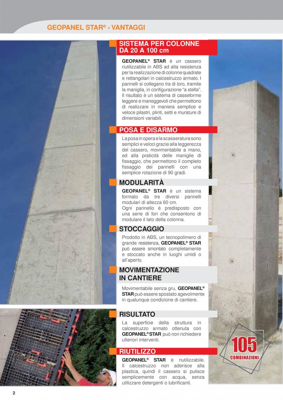 Pagina 2 - Panou refolosibil de cofraj modular GEOPLAST GEOPANEL® STAR Catalog, brosura Italiana...