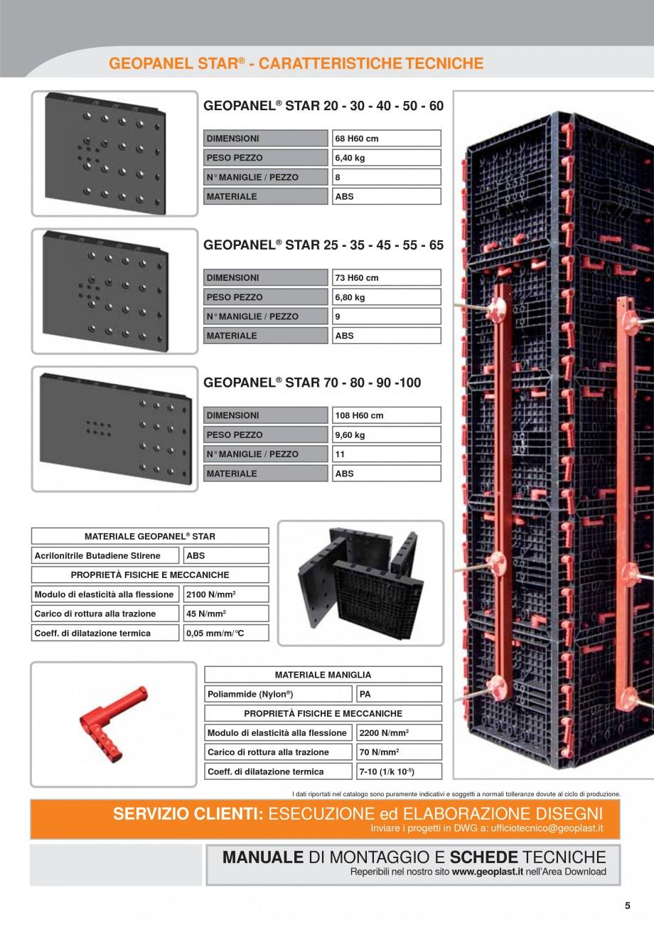 Pagina 5 - Panou refolosibil de cofraj modular GEOPLAST GEOPANEL® STAR Catalog, brosura Italiana...