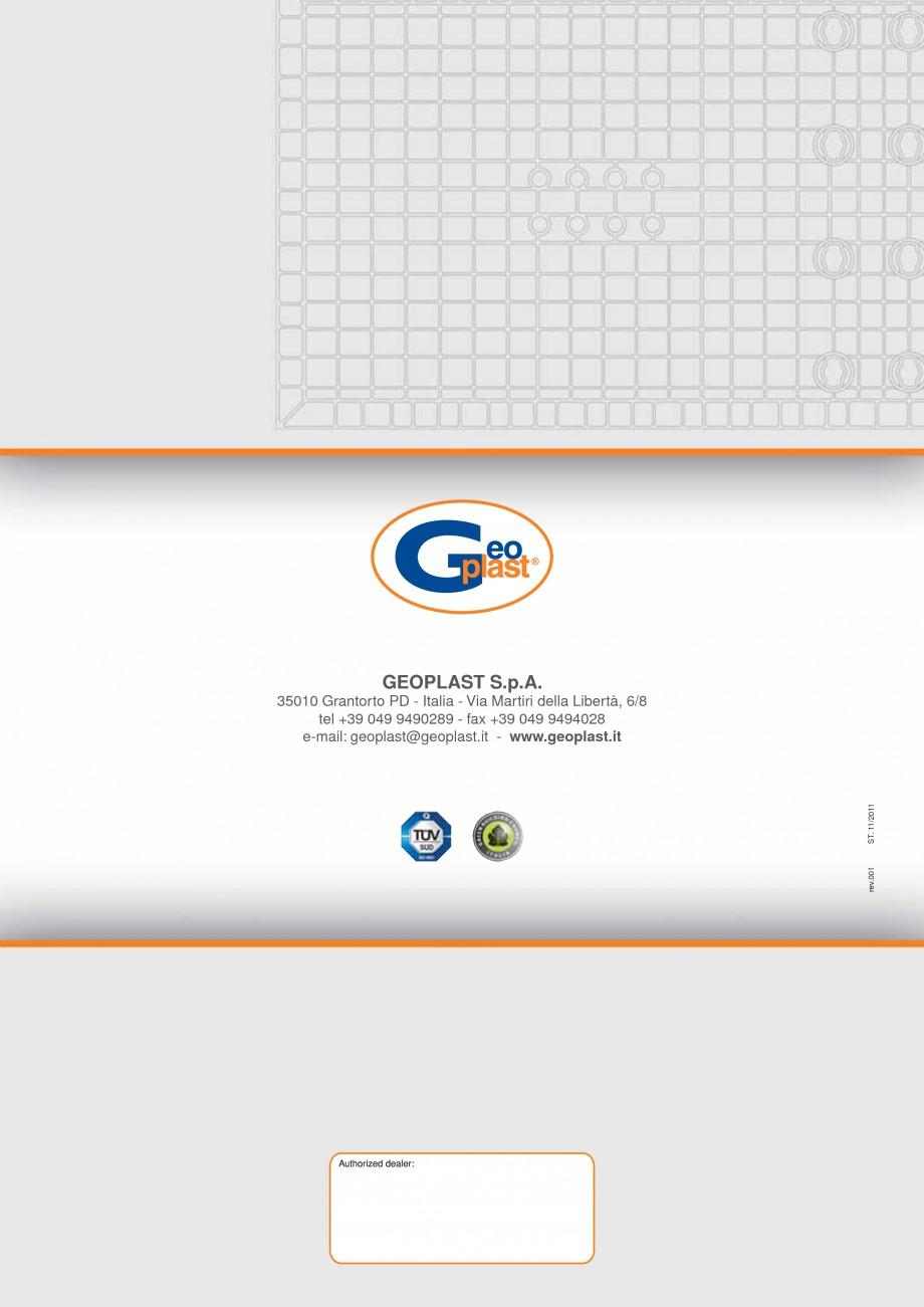 Pagina 8 - Panou refolosibil de cofraj modular GEOPLAST GEOPANEL® STAR Catalog, brosura Italiana...