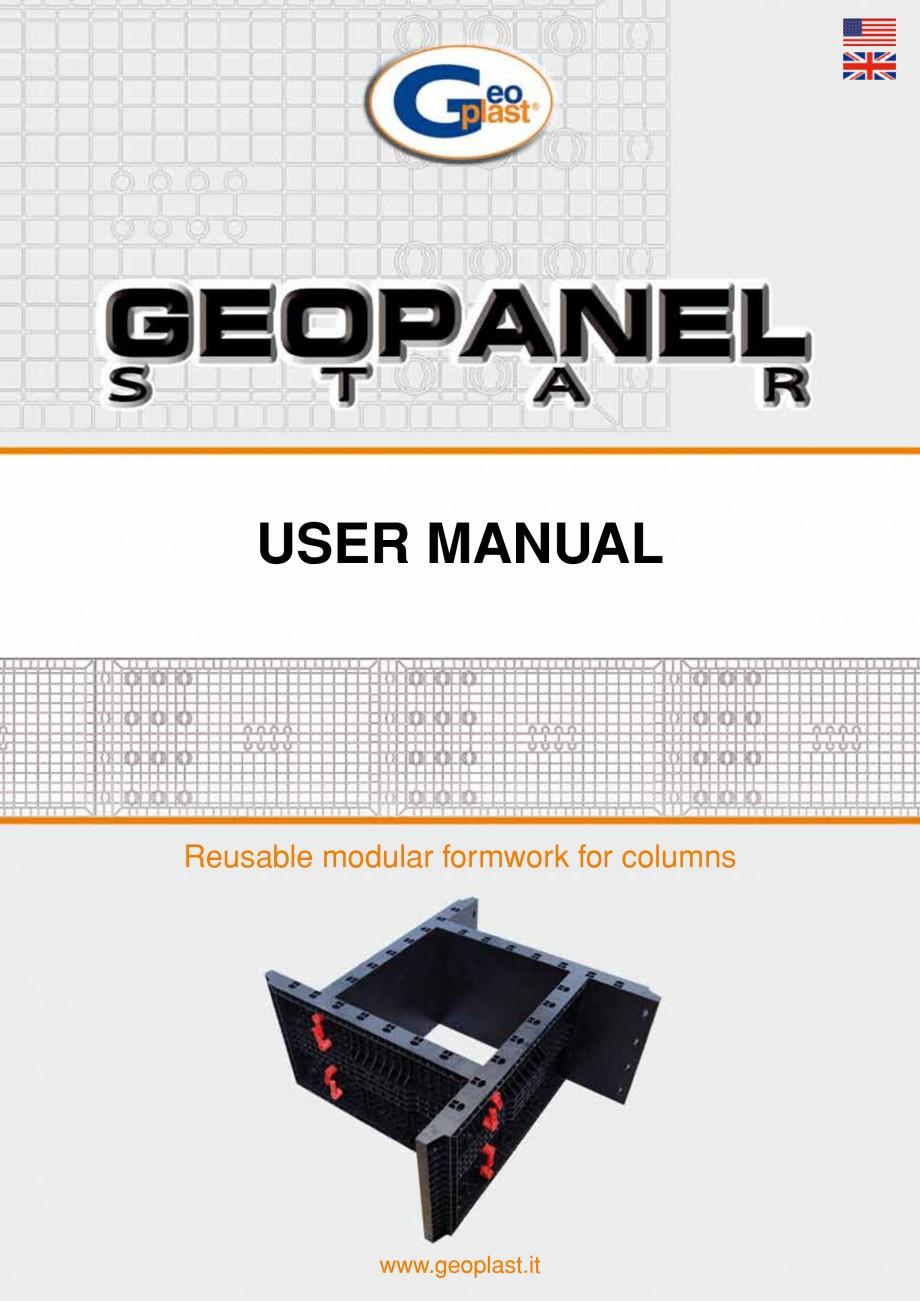 Pagina 1 - Panou refolosibil de cofraj modular GEOPLAST GEOPANEL® STAR Instructiuni montaj,...