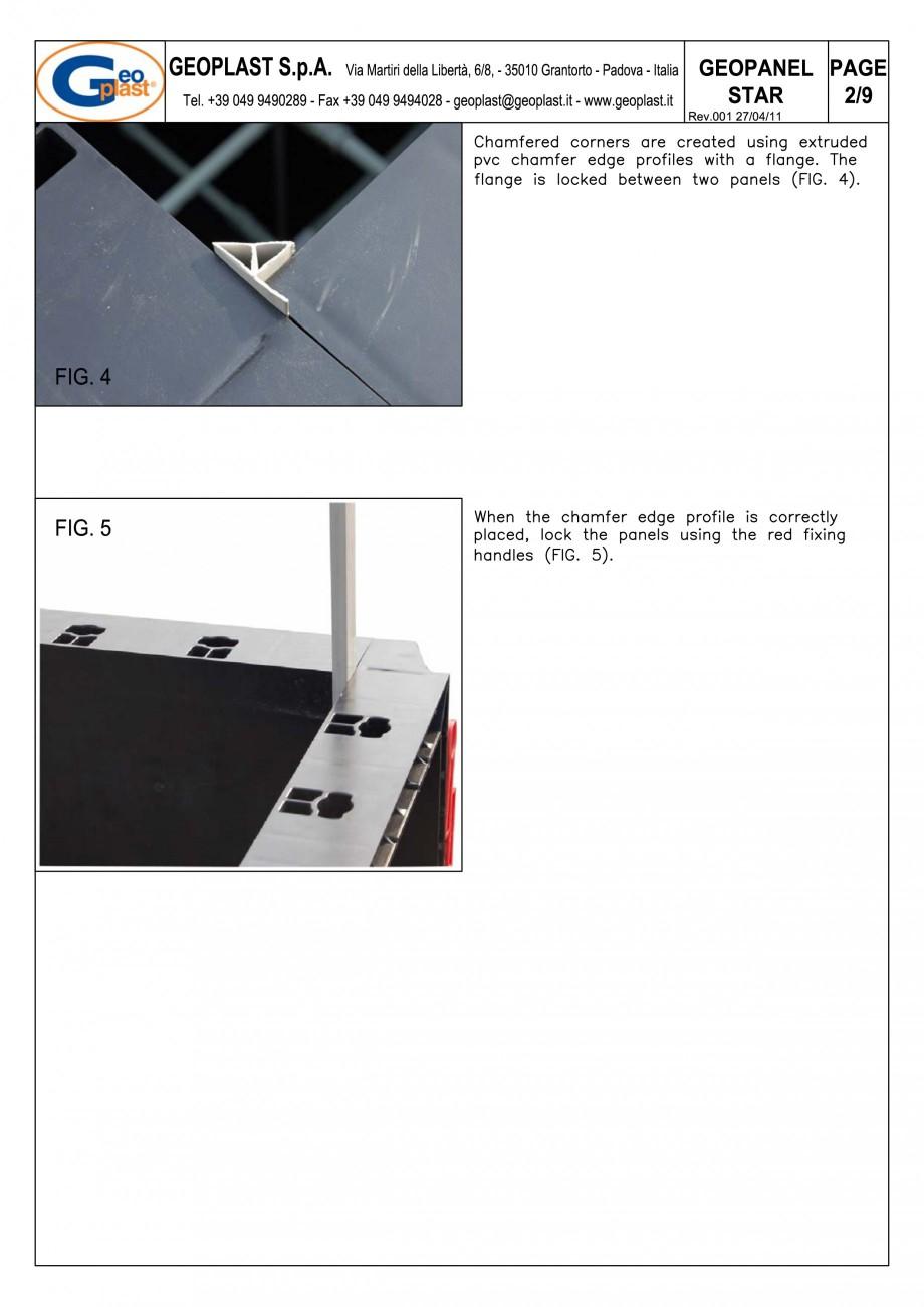 Pagina 3 - Panou refolosibil de cofraj modular GEOPLAST GEOPANEL® STAR Instructiuni montaj,...