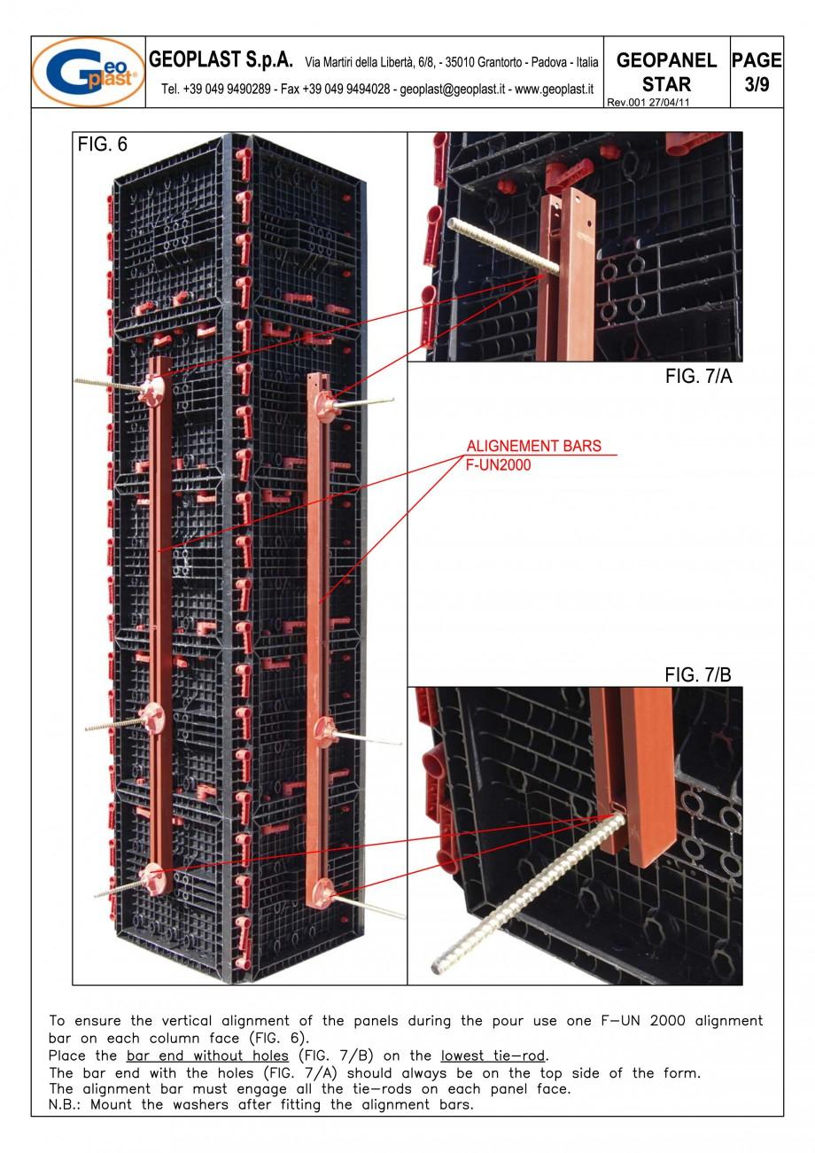 Pagina 4 - Panou refolosibil de cofraj modular GEOPLAST GEOPANEL® STAR Instructiuni montaj,...