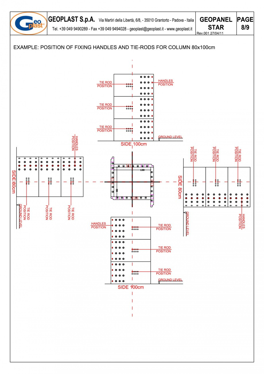 Pagina 9 - Panou refolosibil de cofraj modular GEOPLAST GEOPANEL® STAR Instructiuni montaj,...