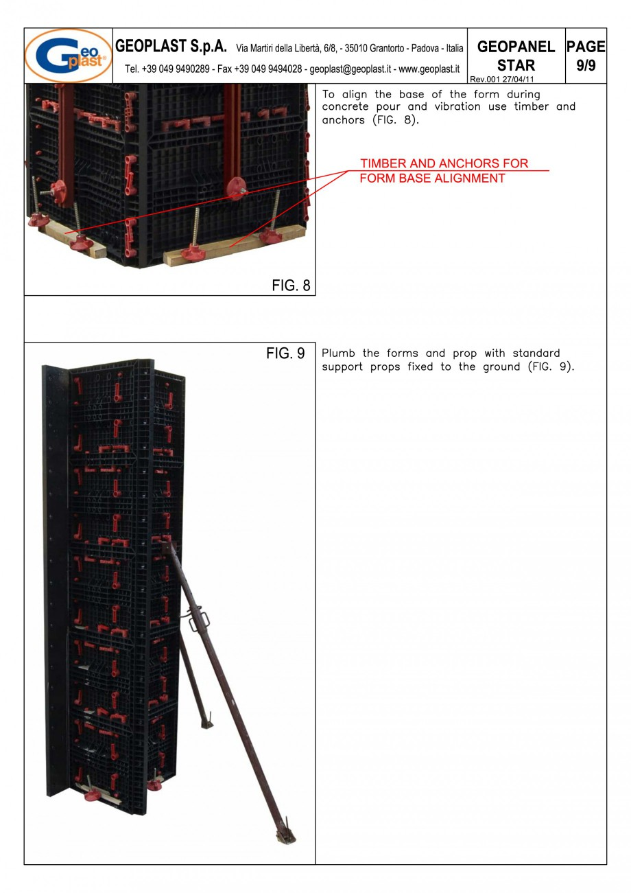 Pagina 10 - Panou refolosibil de cofraj modular GEOPLAST GEOPANEL® STAR Instructiuni montaj,...