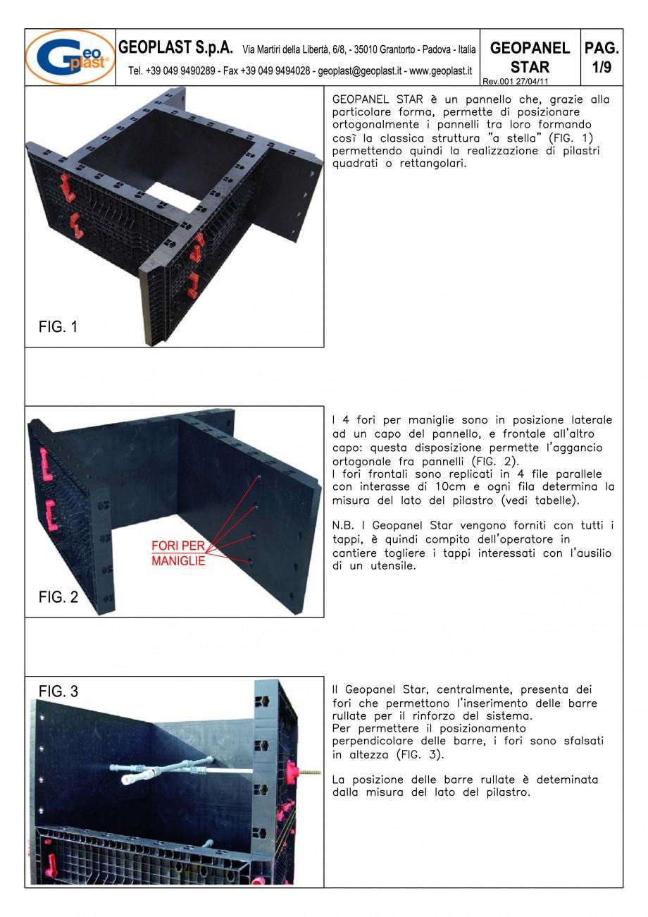 Pagina 2 - Panou refolosibil de cofraj modular GEOPLAST GEOPANEL® STAR Instructiuni montaj,...