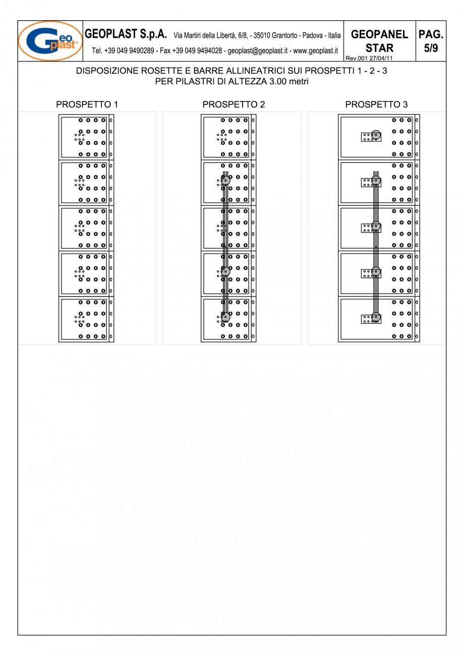 Pagina 6 - Panou refolosibil de cofraj modular GEOPLAST GEOPANEL® STAR Instructiuni montaj,...