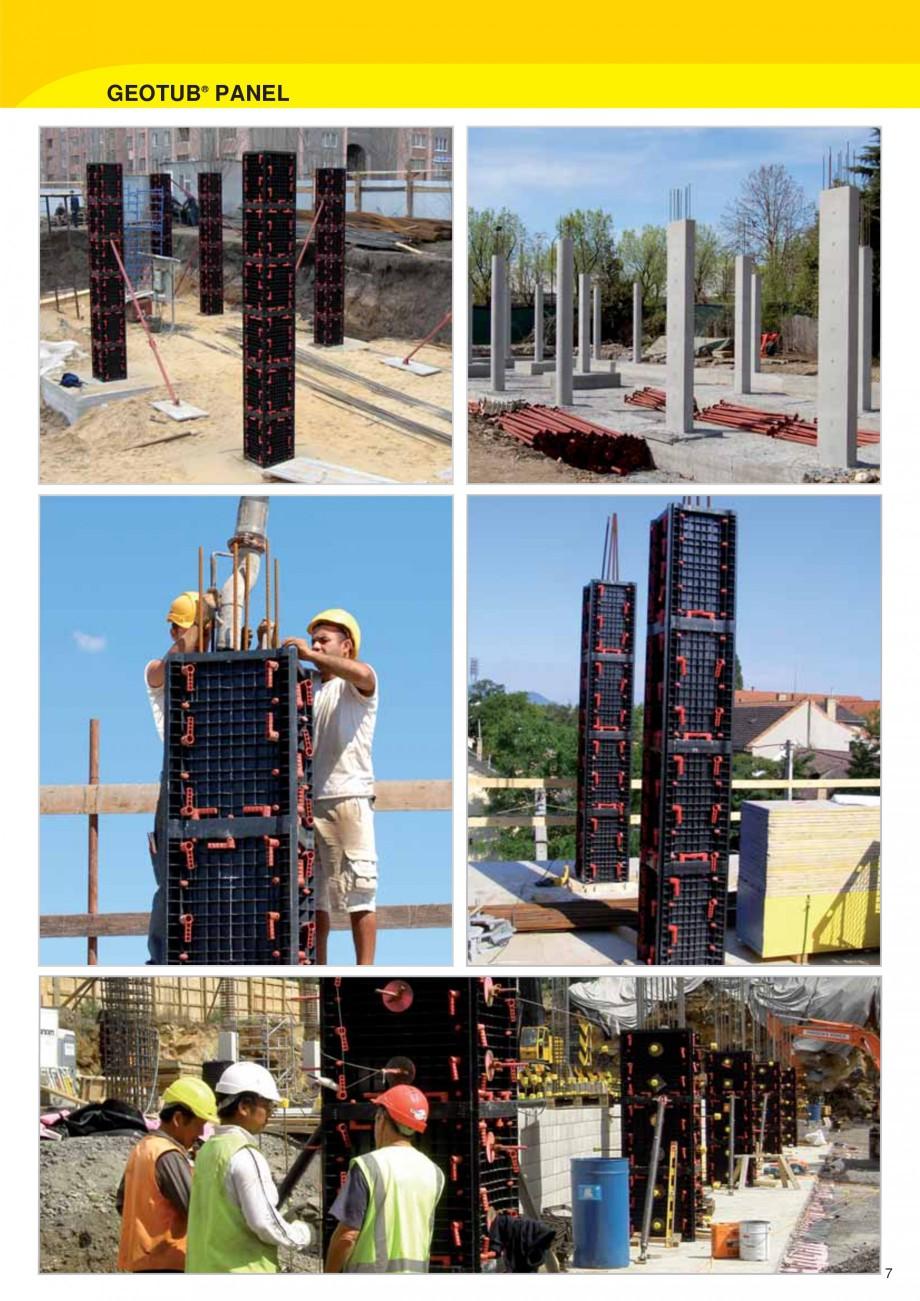 Pagina 7 - Cofraj modular refolosibil pentru coloane patrate sau dreptunghiulare GEOPLAST GEOTUB...