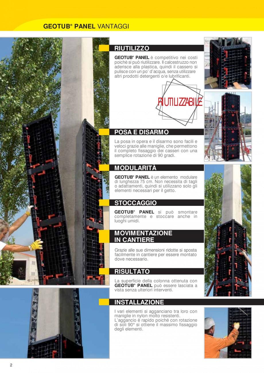 Pagina 2 - Cofraj modular refolosibil pentru coloane patrate sau dreptunghiulare GEOPLAST GEOTUB...