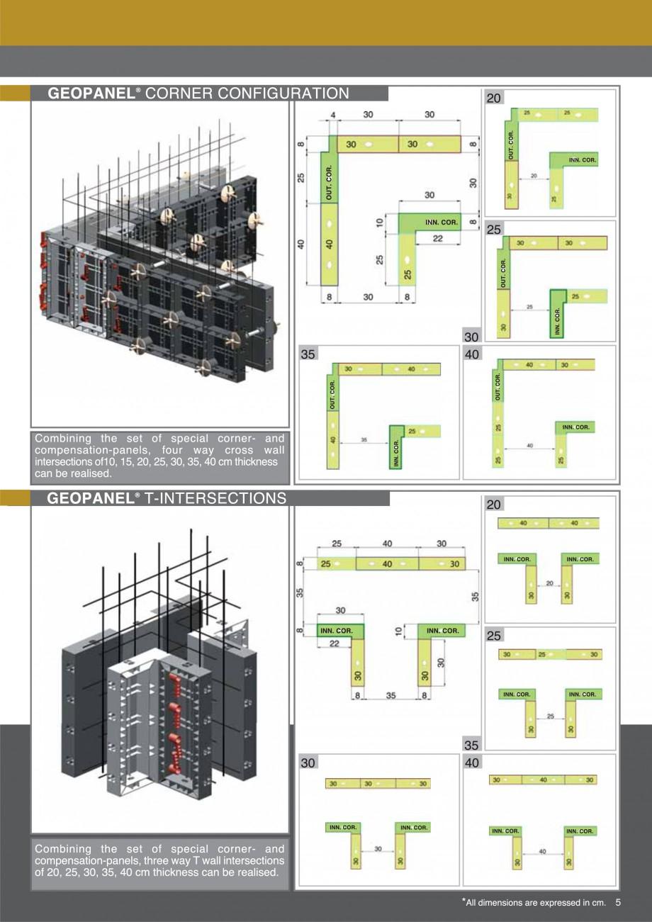 Pagina 5 - Cofraje refolosibile din material plastic pentru zidari GEOPLAST GEOPANEL® Catalog,...