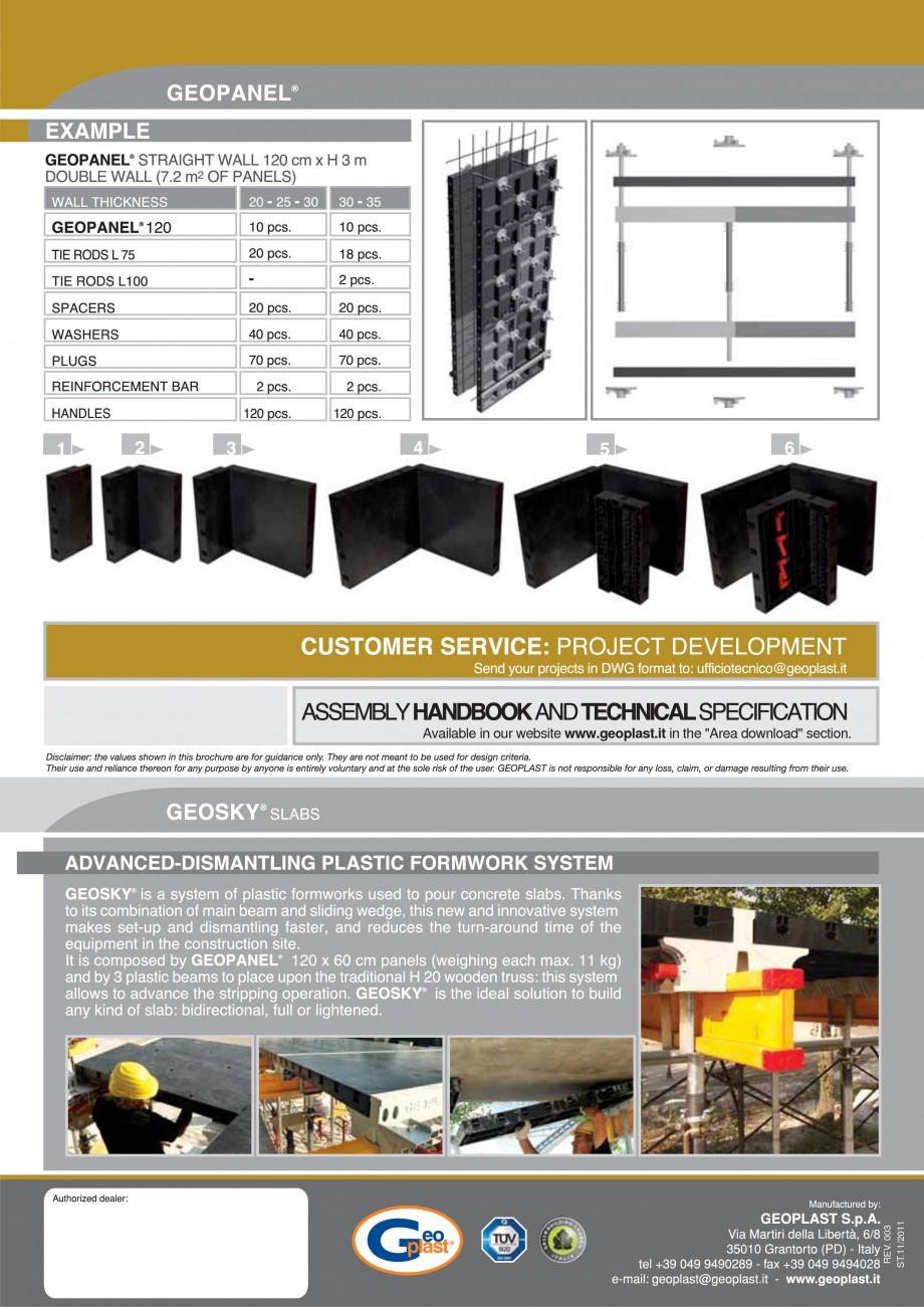 Pagina 8 - Cofraje refolosibile din material plastic pentru zidari GEOPLAST GEOPANEL® Catalog,...