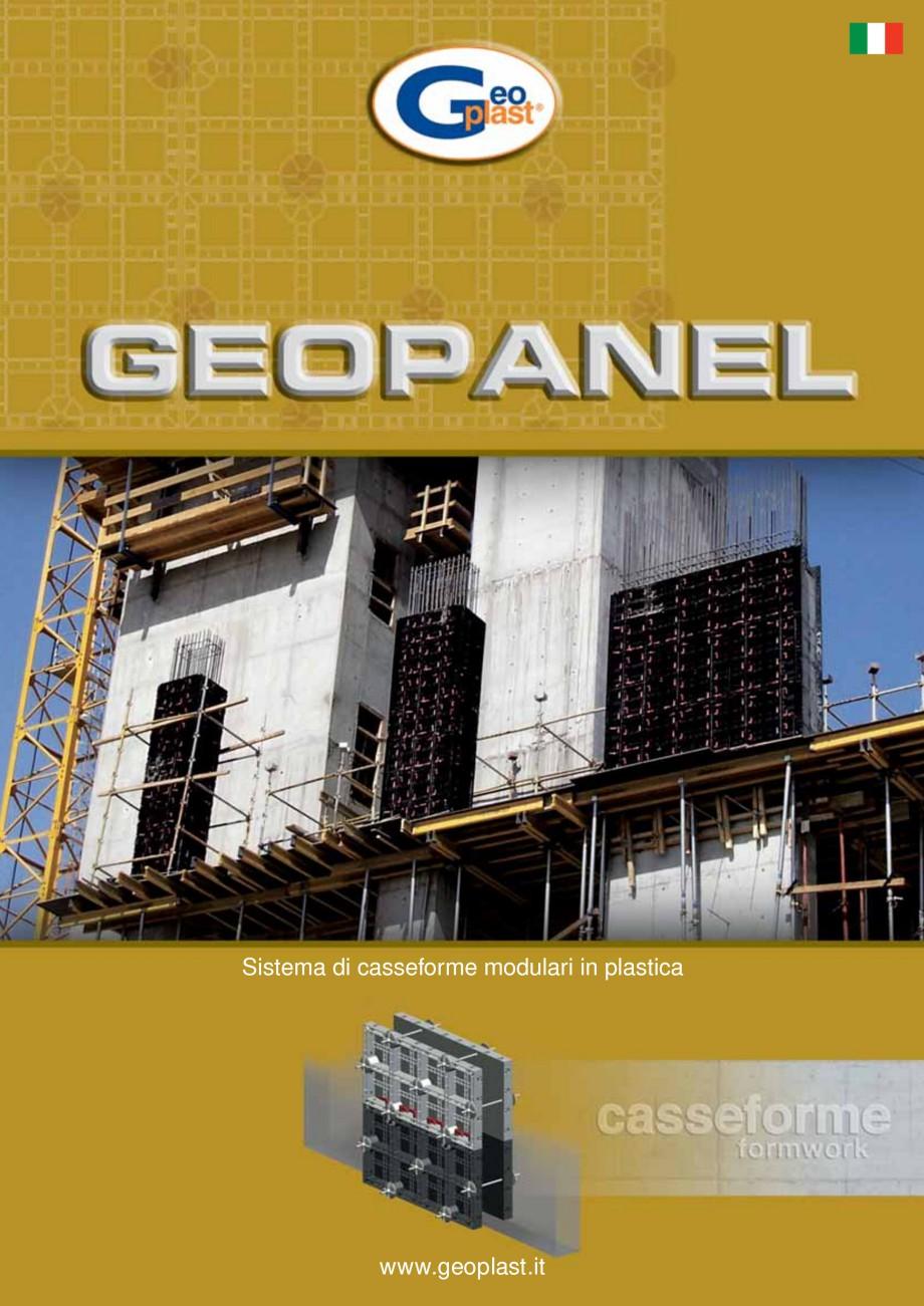 Pagina 1 - Cofraje refolosibile din material plastic pentru zidari GEOPLAST GEOPANEL® Catalog,...