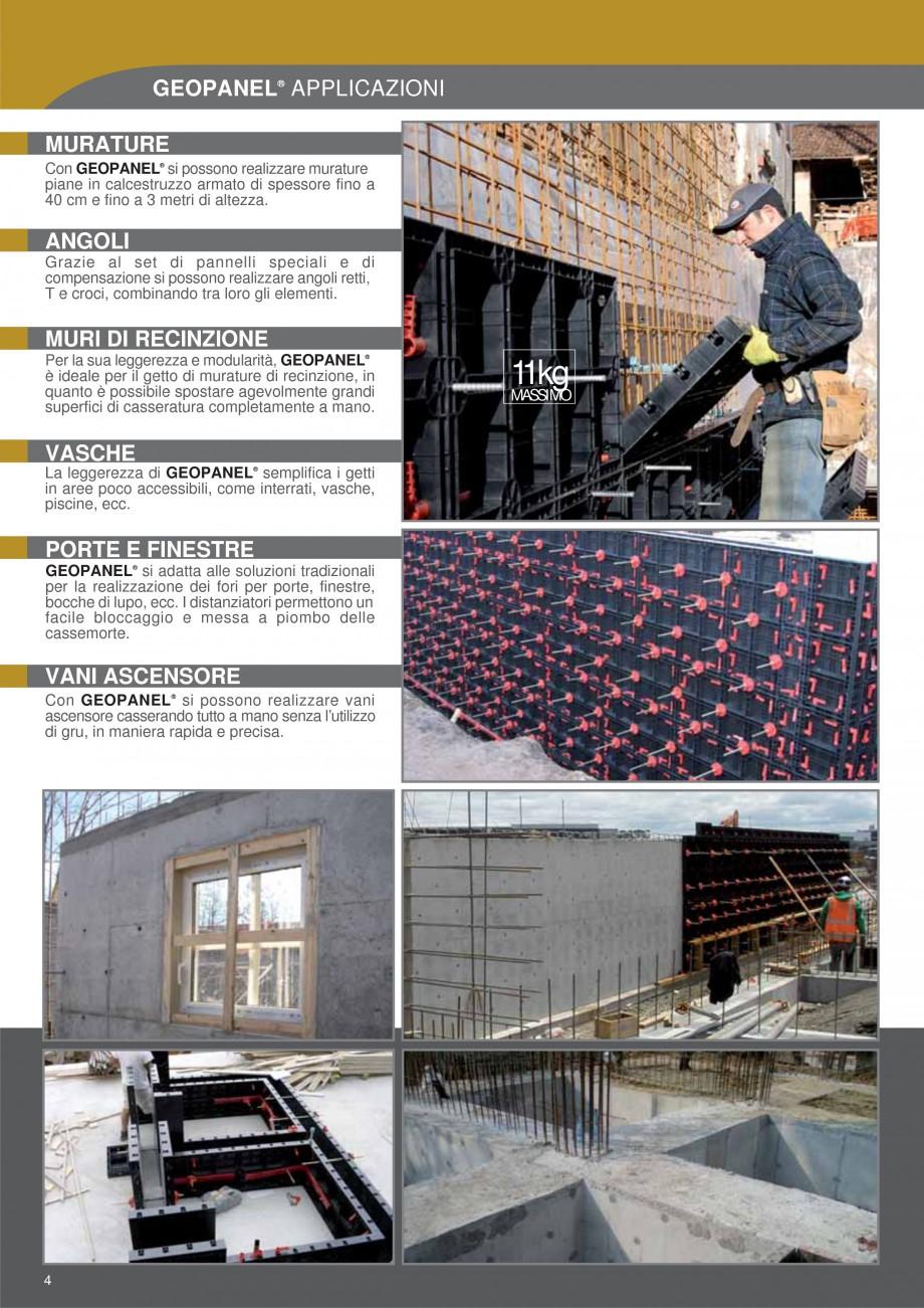 Pagina 4 - Cofraje refolosibile din material plastic pentru zidari GEOPLAST GEOPANEL® Catalog,...