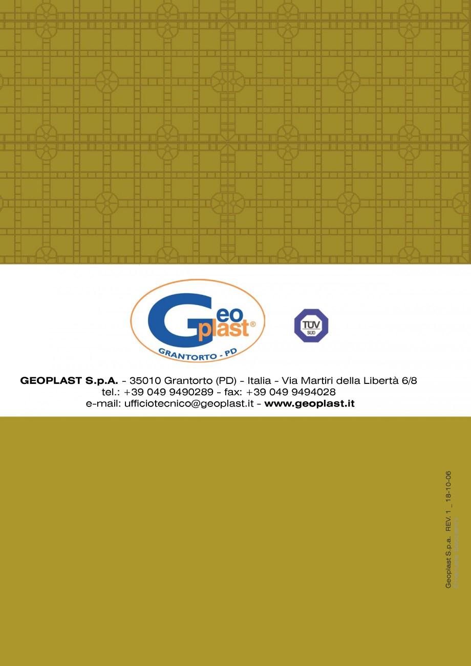 Pagina 18 - Cofraje refolosibile din material plastic pentru zidari GEOPLAST GEOPANEL®...