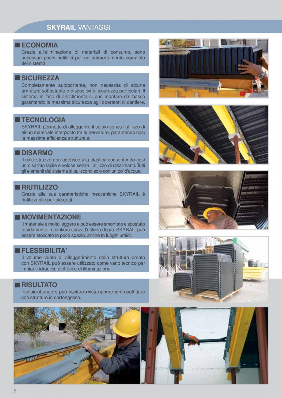 Pagina 2 - Cofraje refolosibile pentru plansee cu nervuri pe o singura directie GEOPLAST SKYRAIL®...