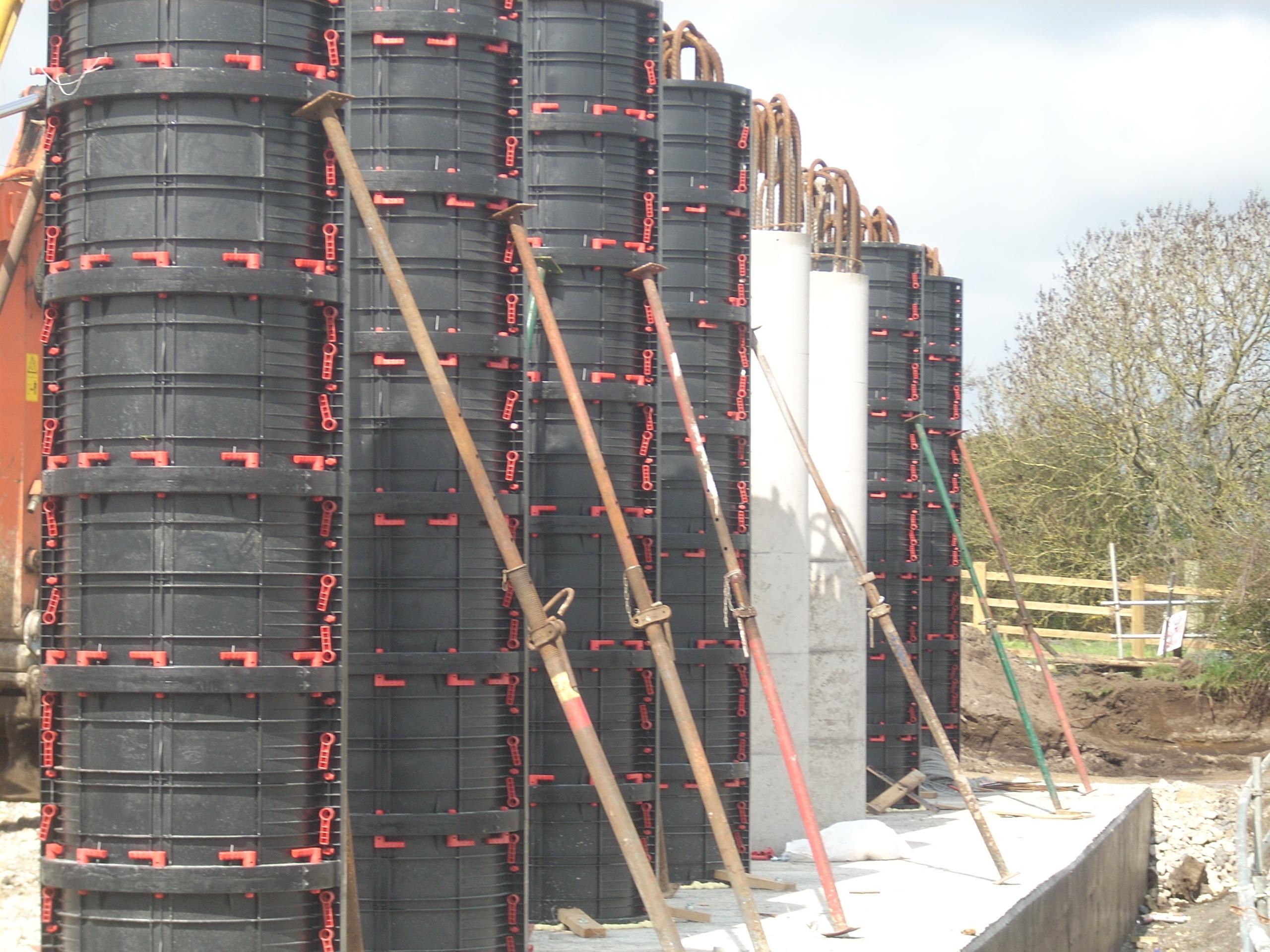 Cofraje refolosibile pentru coloane cilindrice GEOPLAST - Poza 1