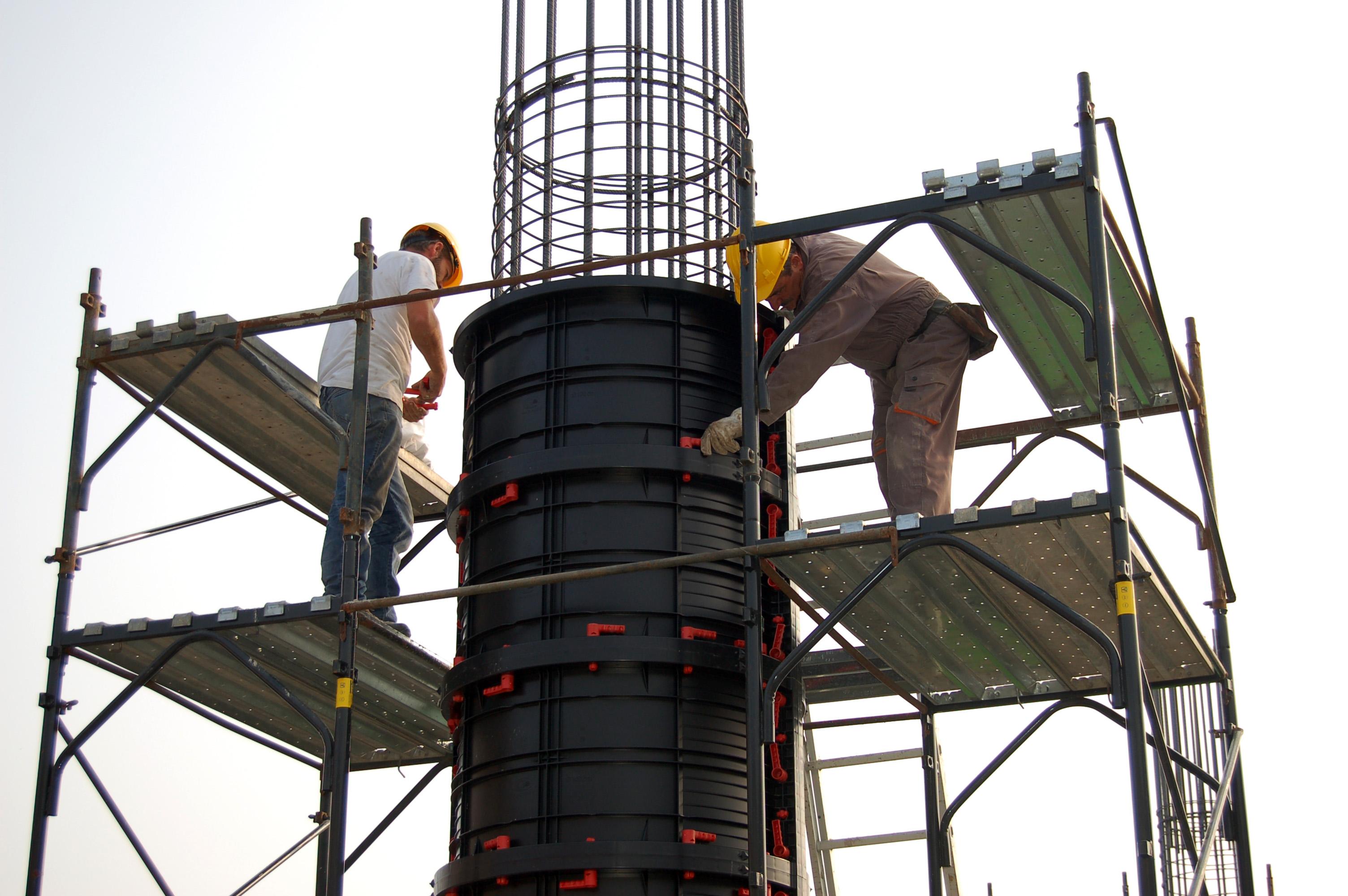 Cofraje refolosibile pentru coloane cilindrice GEOPLAST - Poza 2