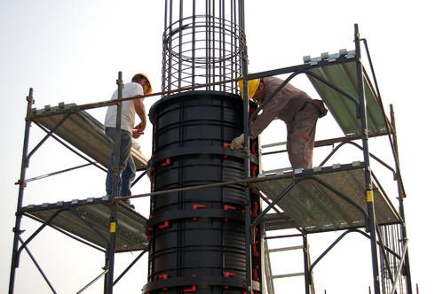 Executie, montaj Cofraje refolosibile pentru coloane cilindrice GEOPLAST - Poza 2
