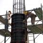 Utilizarea cofrajului refolosibil pentru coloane cilindrice