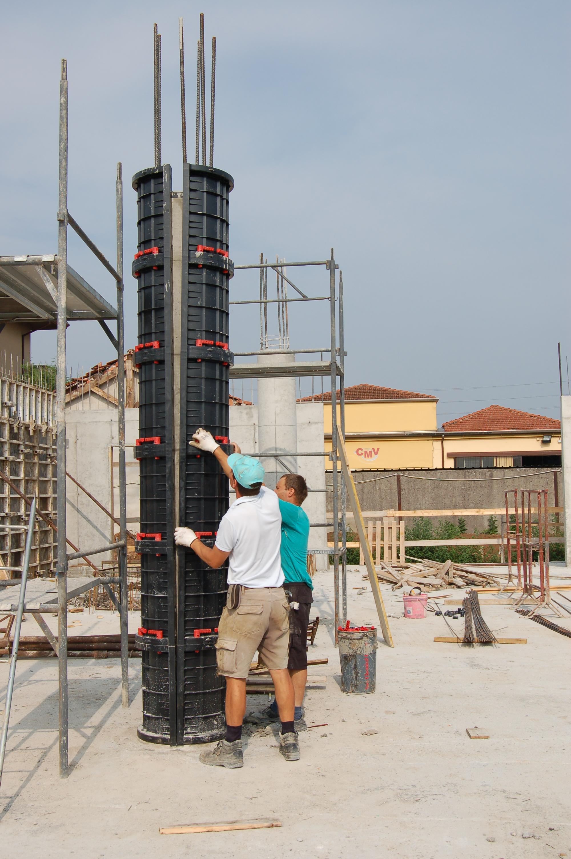 Cofraje refolosibile pentru coloane cilindrice GEOPLAST - Poza 5