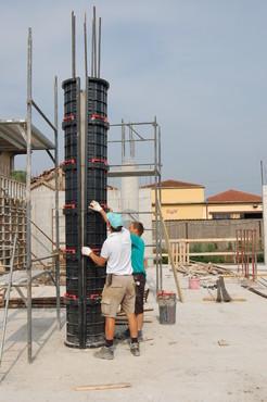 Executie, montaj Cofraje refolosibile pentru coloane cilindrice GEOPLAST - Poza 5